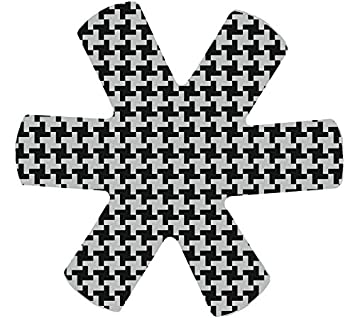 Polyester Houndstooth 18 x 18 x 0.1 cm -Perfect to Protect Small and Delicate Tableware Papillon Plate and Bowl Protectors-Set of 6-/Ø18 cm