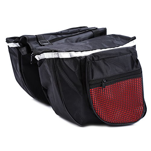 VGEBY Bike Pannier, Water Resistant Bicycle Rear Seat Bag Rack Tail Carrier Trunk for Riding Cycling