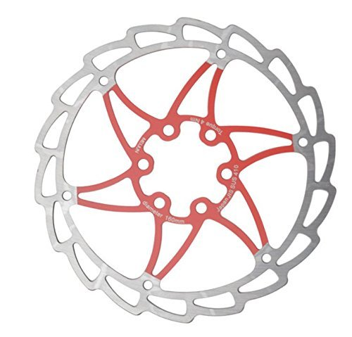(bargain house 2-Piece Disc Brake Rotor Red 160mm)