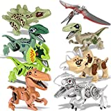 FQMY 8 PCS Dinosaur Building Blocks, Kids