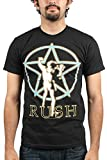 Bravado Mens Rush Starman Glow T-Shirt, Black, Medium