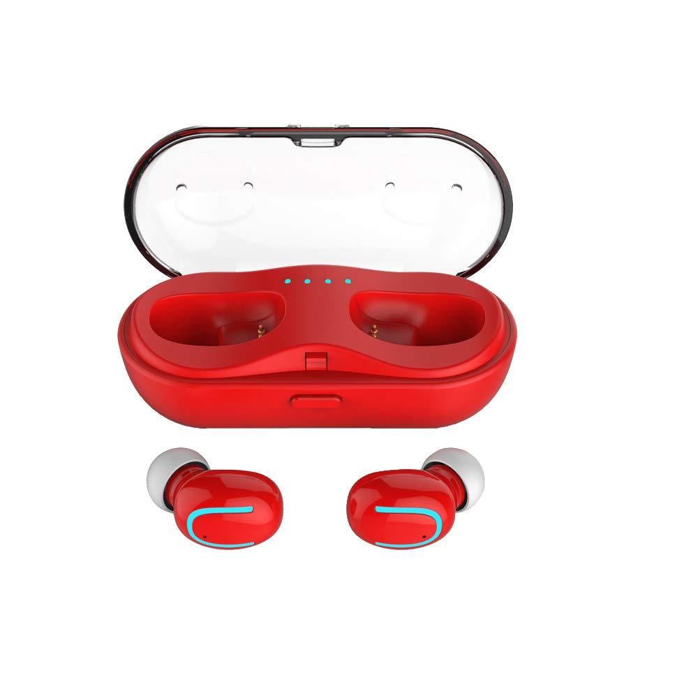 防音 ライト 耳に耳を傾ける イヤホン ランニング/ジム/ジョギング用 One Size レッド FTH-109 B07PTQS1HQ レッド