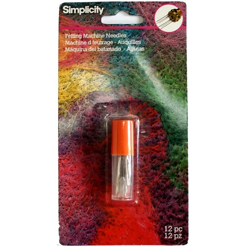 Simplicity Barbed Felting Machine Needles for Crafting, Total Needles 12ct