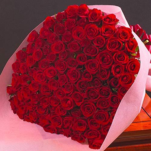 バラギフト専門店のマミーローズ 選べるバラ本数セレクト 還暦祝い 誕生日 プロポーズ 贈り物の豪華なバラの花束(生花) 赤 108本 B00XJ1U5UC 赤 108本