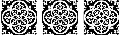 FloorPops FP2475 Gothic Peel & Stick Tiles Floor Decal Black (Thrее Рack) by FloorPops (Image #5)