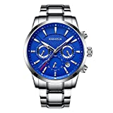 KASHIDUN Men's Sports Fan Watches Casual Quartz Military Waterproof Luminous Date-Blue.929-YLG