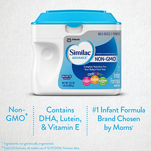 Similac Advance Non-GMO Infant Formula with Iron, Baby Formula, Powder, 23.2 Ounces (Pack of 6) by Similac (Image #1)