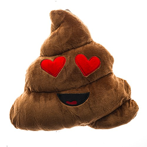 Emojicon Pillows Poop Limited (Poop Heart Eyes) -