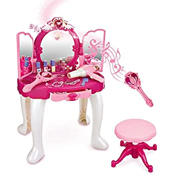 Captivating SainSmart Jr. Pretend Princess Girls Vanity Table With Fairy Infrared  Control And MP3 Music Playing
