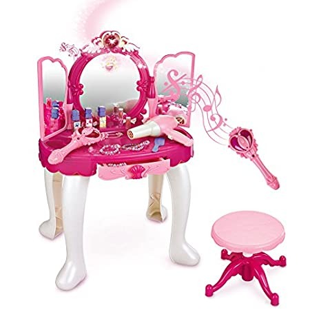 Awesome SainSmart Jr. Pretend Princess Girls Vanity Table With Fairy Infrared  Control And MP3 Music Playing