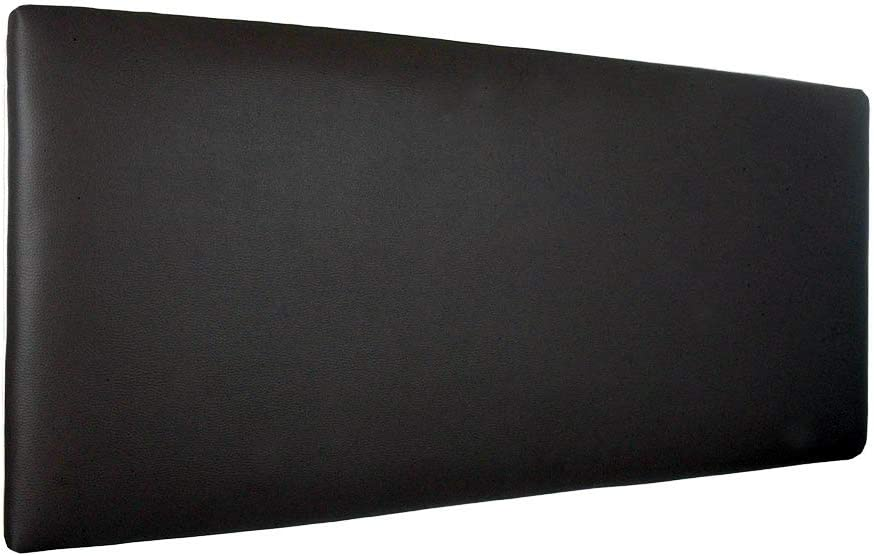 Silcar Home - Cabecero de Cama Tapizado en Polipiel Liso, Modelo Jep (Negro, 90 cm)   Cabecero Acolchado   Cabezal Tapizado   TNT Transpirable   Cabecero Original   Transporte Incluido