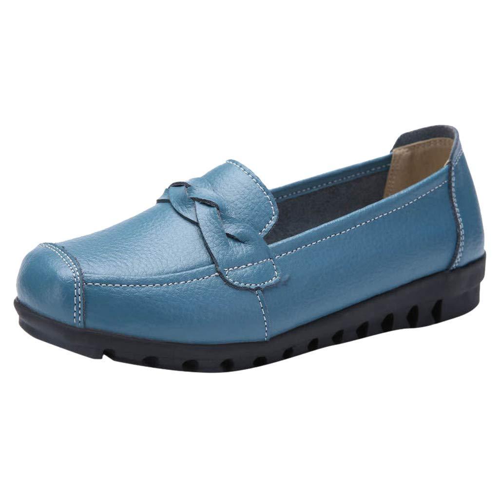 Damen Schuhe Schnürschuhe Flache Brogue Halbschuhe Mokassin Freizeit Loafer