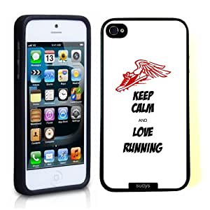 SudysAccessories Keep Calm And Love Running Thinshell Protective Plastic iPhone 5 iPhone 5S Case