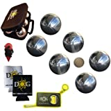 The Day of Games Chromed Steel Petanque Set, 73mm, Silver