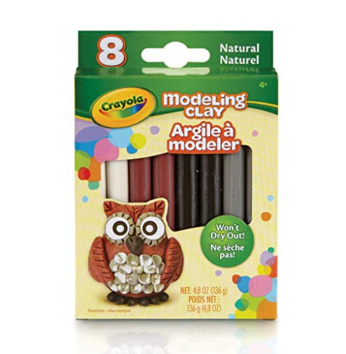 Crayola Modeling Clay, 4.8 Ounce Pack, Set of 8, 0.6 oz, Assorted Natural
