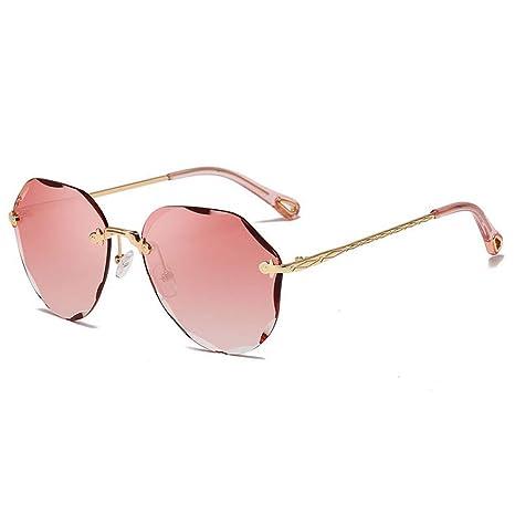 YHEGV Diseño de Marca Lady Pilot Gafas de Sol sin Montura de ...