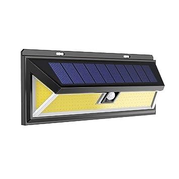 Wandleuchte Bewegungsmelder Gartenlicht Außenleuchte 180LED COB Solarleuchte