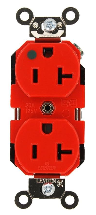 Leviton 8300 R 20 Amp 125 Volt Extra Heavy Duty Hospital Grade