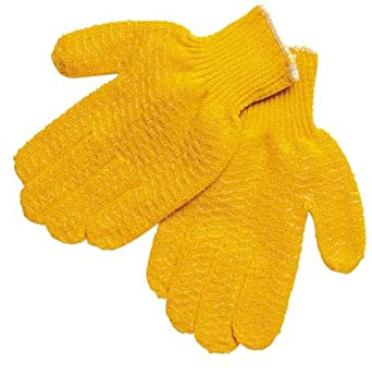 MCR SAFETY 9675SM Knit Gloves,S,Orange,PVC Material,PK12