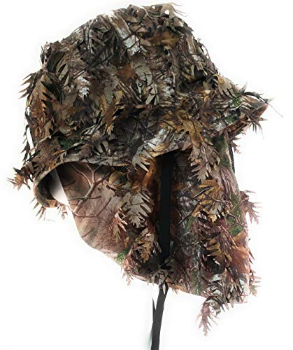 QuikCamo Realtree Xtra Camouflage 3D Leafy Bucket Hat Hunting Face Mask Combination (Med, 58cm, 7 3/8) by QuikCamo (Image #1)