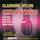 alice A107-N, Classical guitar strings, .028-.043 in, Clear Nylon, silver plated copper wound