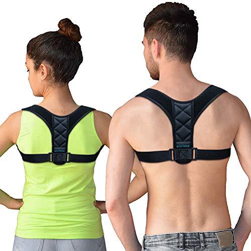 AOUTNEW Back Shoulder Posture Brace for Men & Women, Hunchback Posture Brace Corrector Band Vest for Teens, Clavicle Brace Upper Back Band Support Shoulder Harness for Posture