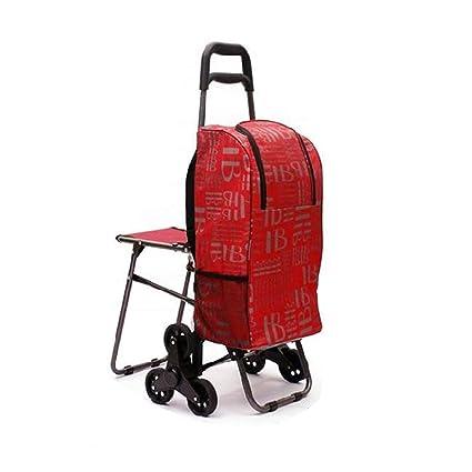XINGPING-HOME El Carrito de Compras para Ancianos Puede Llevar carritos de Remolque para Subir