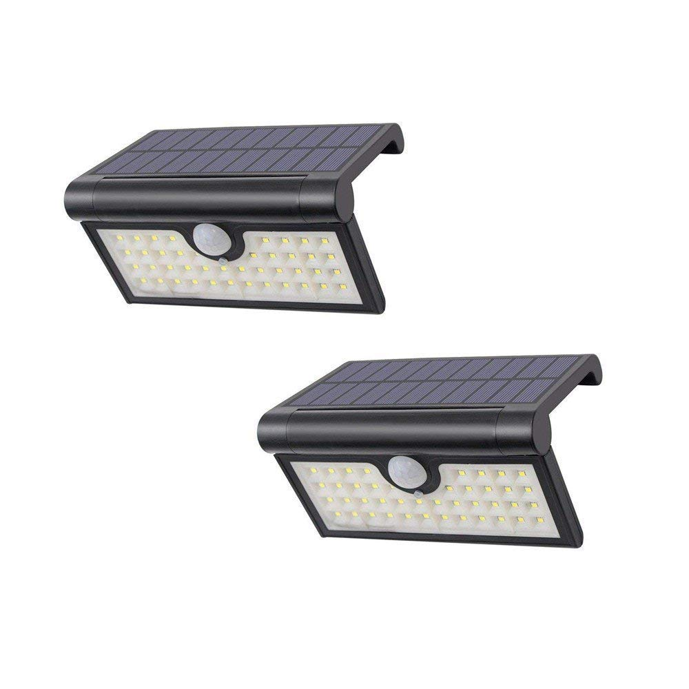 Decoroom Solar Light Motion Sense Wall Light Wireless Outdoor 42 LED Waterproof Courtyard Path Light Used for Garage Garden Patio Balcony 2W -2Pack
