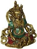 Kuber Yantra Wealth Turquoise Handwork Dhan Hindu God Sculpture