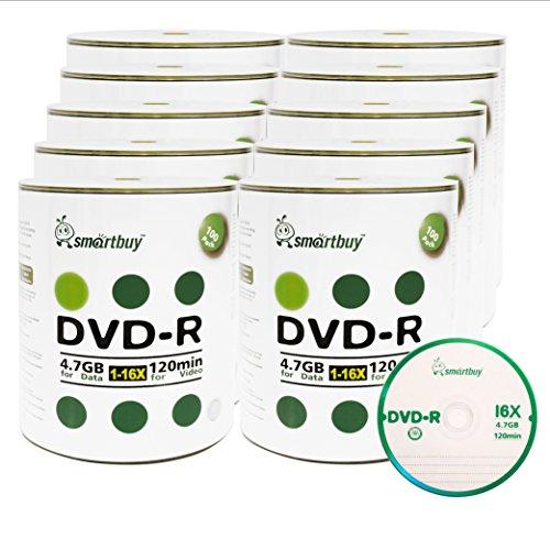Smart Buy 1000 Pack DVD-R 4.7gb 16x Logo Blank Data Video Movie Recordable Disc, 1000 Disc 1000 Pk