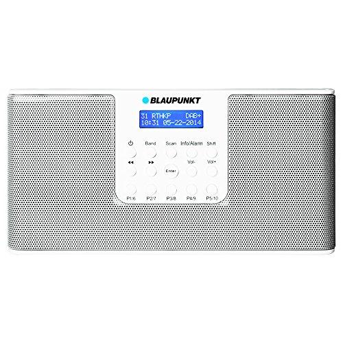 BLAUPUNKT RXD 12 Digitalradio mit UKW-Teleskopantenne (DAB+, Netz/Batteriebetrieb) weiß