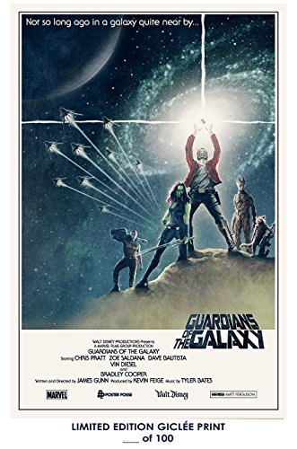 RARE POSTER thick GUARDIANS OF THE GALAXY movie 2014 star wa