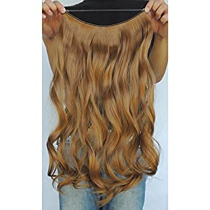 """Secret Halo Hair Extensions Flip in Curly Wavy Hair Extension Synthetic Women Hairpieces 20"""" (Golden Brown #6A)"""