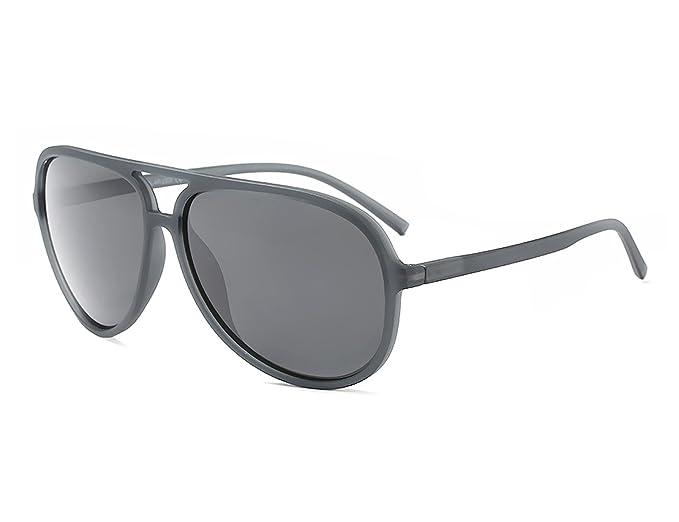 Bmeigo Gafas de sol Hombre Vintage Polarizadas Unisex Mujer Aviator Lentes Marco negro con protección UV Ultra ligero: Amazon.es: Ropa y accesorios