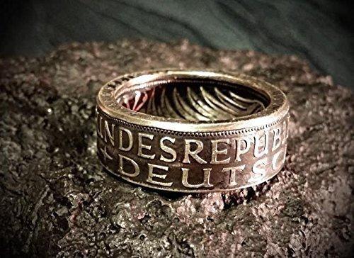 Coinring Münzring Ring Aus Münze 1972 Heiermann Silberadler 5
