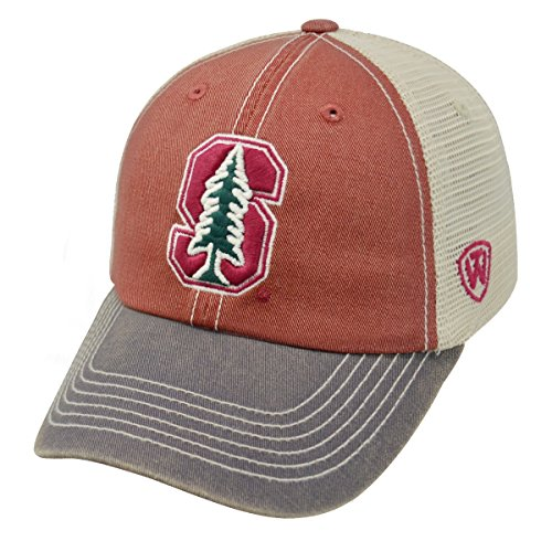 Top of the World Adult Unisex's Offroad Snapback Mesh Back Adjustable Hat, Stanford Cardinal, One Size