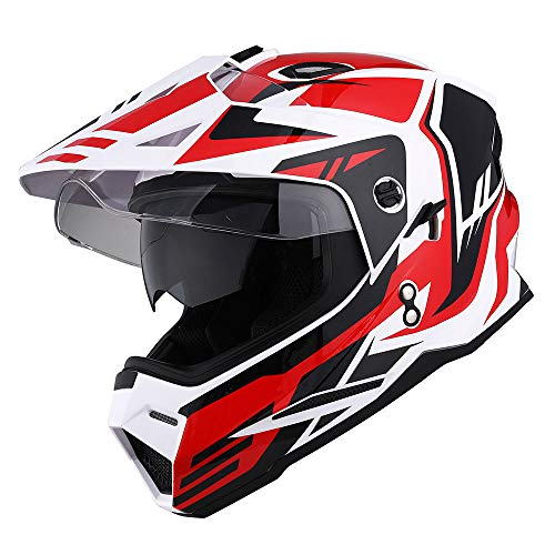 1Storm Dual Sport Motorcycle Motocross Off Road Full Face Helmet