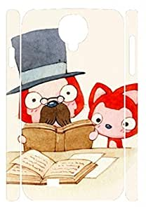 Specialdiy iCustomonline Little Fox Studying Designs case cover For Samsung Galaxy S4 5LIu58pKRIM I9500 3D PC Material