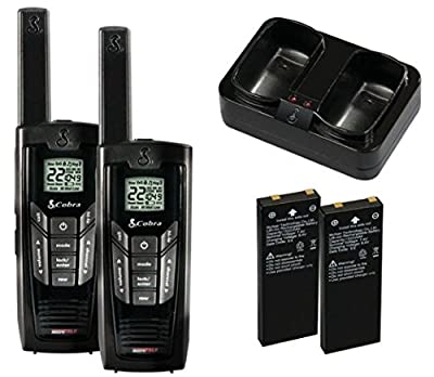 Cobra Walkie-Talkie microTalk CXR725 27-Mile 22-Channel Two-Way Radio by Cobra