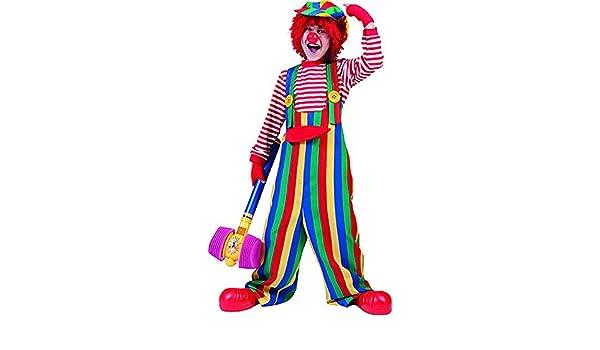 mágica Clown – Multicolor Niños Peto con divertidos Botones de ...