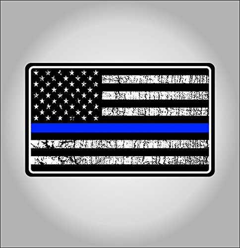 Police blue line american flag