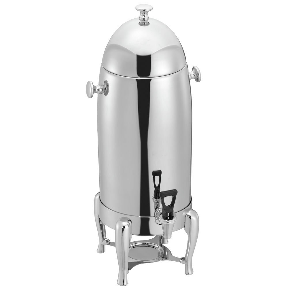 HUBERT Coffee Urn with Rounded Legs 3 2/5 Gallon - 11 1/5 L x 10 1/2 W x 25'' H