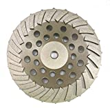 Diamond Cup Wheels Turbo Fast Grinding Threaded for Concrete. (7'', 24 Seg)
