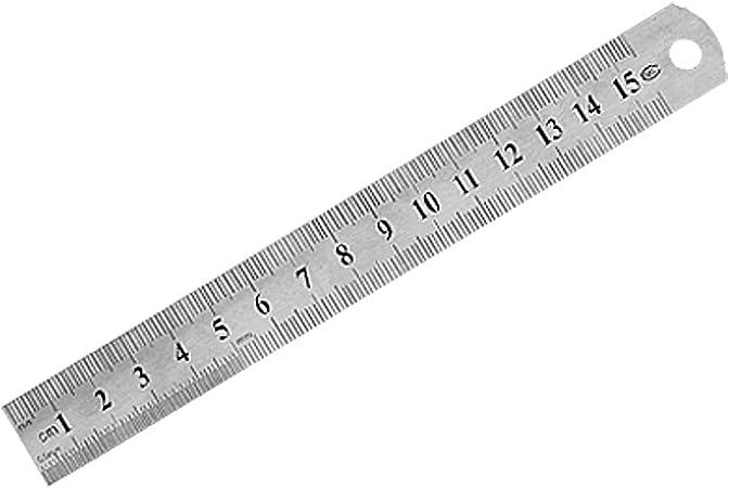 15cm 6 Inches Metric Measurement Straight Ruler 2 Pcs