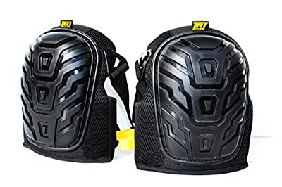 Elite Gel Knee Pads by TRT Tools. Best Professional Grade Memory Foam Knee Pad for Gardening, Crawling, Airsoft Tactical, Construction & Flooring. Heavy Duty. One Size Fits Most.