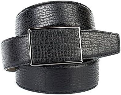 Anthoni Crown Designer Herrengürtel, Leder schwarz, Automatik 4cm Breite, 85-120 cm/39C10