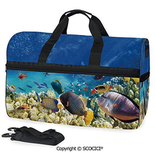 Travel Duffel Bag Fairy Underwater with Fish and Source Personalized choice