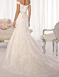 Lisa Off Shoulder Lace Mermaid Wedding Dresses Lace Birdal Gowns LS91