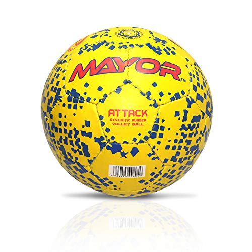 Mayor Attack Rubber Volleyball Yellow/Blue Size 4