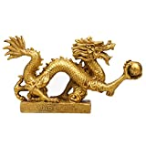 Yaoyijun Feng Shui Dragon Luck & Success feng Shui Goods Brass Dragon Statue Sculpture